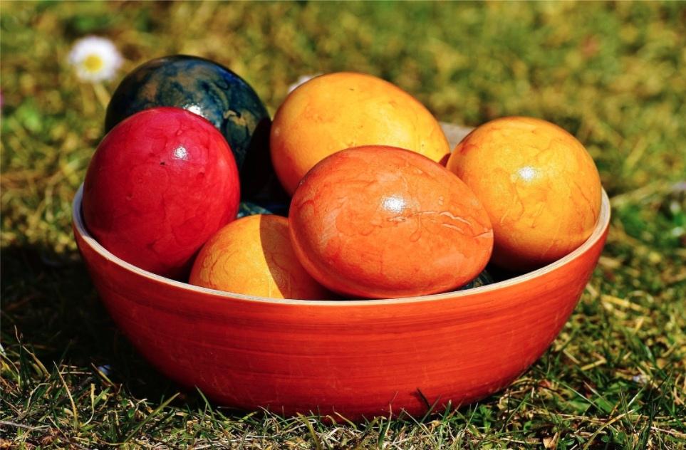 Vajíčka barvená přírodou